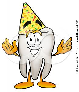 8588-Clipart-Picture-Of-A-Tooth-Mascot-Cartoon-Character-Wearing-A-Birthday-Party-Hat.jpg